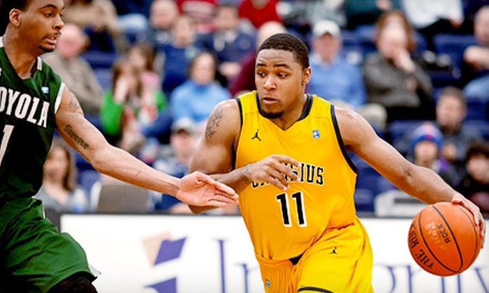 Canisius College Athletics - Multiple Locations: Men's Basketball or Hockey Game for Two with Hats from Canisius College Athletics (Half Off)