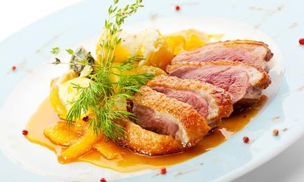 Menu fine cuisine française en 4 services pour 2 à 39€ au restaurant le Fin bec