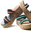 Lady Godiva Banded Wedge Sandals