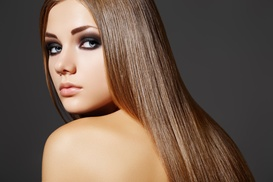 Pat's Place Hair Salon: Salon Package with Optional Highlights or Color or a Keratin Package at Pat's Place Hair Salon (Up to 70% Off)