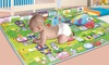 Two Elephants Baby Play Mat: Two Elephants Baby Play Mat