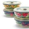 Set of 4 Collapse-It 6-Cup Food-Storage Containers