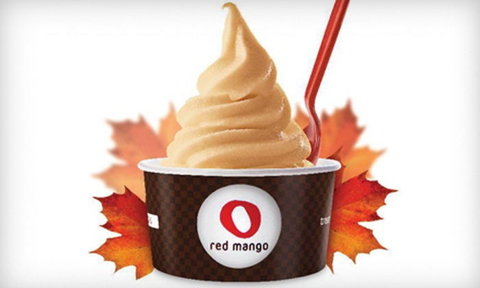 Red Mango - Pike Place  Market: Six Small Yogurts with One Topping Each or $12 for $25 Worth of Self-Serve Frozen Yogurt at Red Mango
