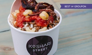 Koshari Street: Egyptian Street Food With Drink from £5 at Koshari Street, Covent Garden (Up to 47% Off)