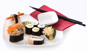 Ichiban Sushi Osnabrück: 1x, 2x oder 4x Sushi-Mittagsmenü mit Komposition und Getränk nach Wahl bei Ichiban Sushi Osnabrück (bis zu 43% sparen*)