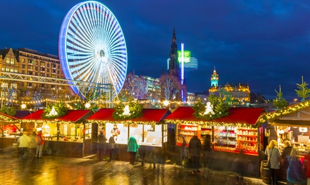 ✈ Edinburgh Christmas Market: 1 to 3 Nights with Flights