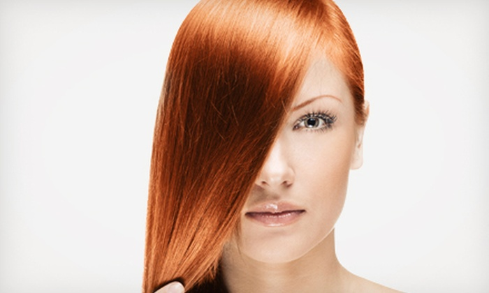 Bounce Salon - O'Fallon: $119 for Agave Hair-Smoothing Treatment with Haircut and Style at Bounce Salon (Up to $390 Value)