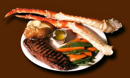 $39.99 for Two New York Steaks and One Pound of King Crab Legs at B & E Meats and Seafood