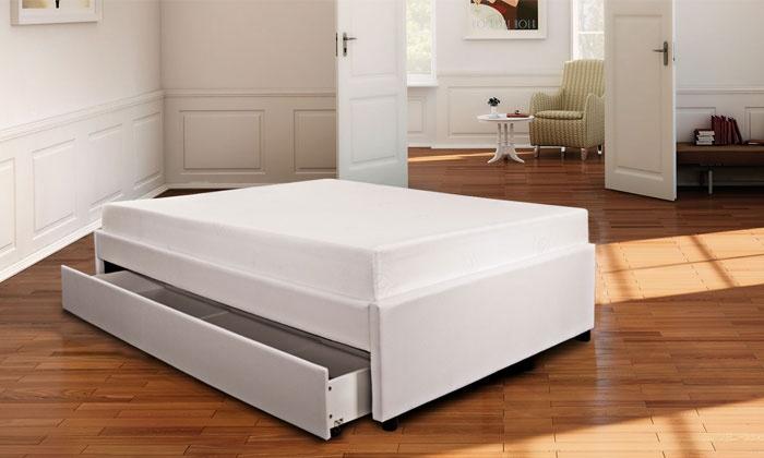 lit tiroir sampur avec ou sans matelas groupon shopping. Black Bedroom Furniture Sets. Home Design Ideas