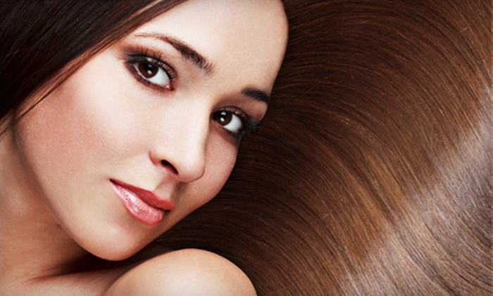 Holt Hair and Nails - Holt: Haircut and Reconstructive or Malibu Treatment with or without Partial Highlights at Holt Hair and Nails (Up to 59% Off)