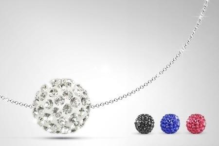Collier boule argent véritable Luxury Crystal orné de Swarovski® Elements  dès 14,90€ (livraison offerte, remise de 66%)