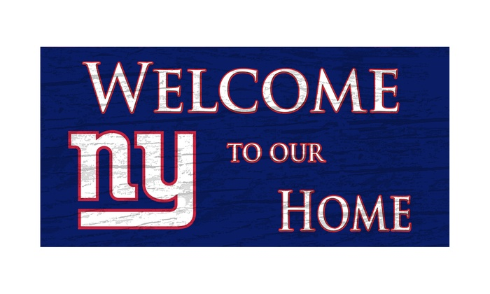 "New York Giants 12"" Welcome Sign: New York Giants 12"" Welcome Sign"