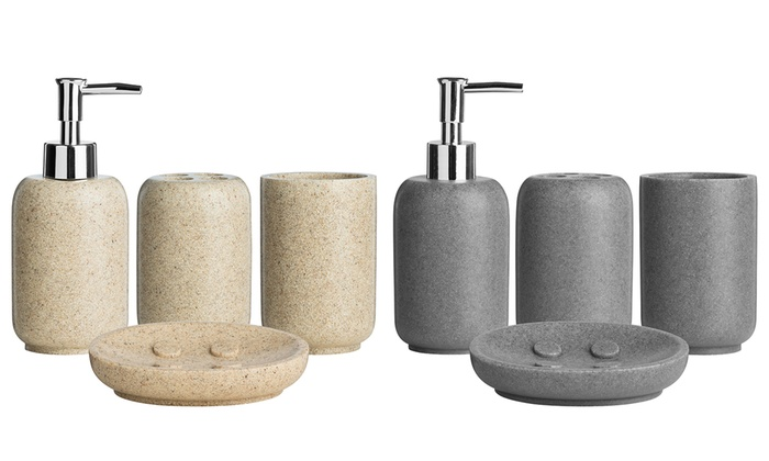 Stone Effect Bathroom Accessories Groupon Goods