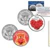 Valentine's-Day-Themed U.S. Kennedy Half Dollar 2-Coin Set