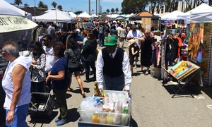 Treasure Island Flea: Single-Day Admission for Two or Four with Two or Four Beverages to Treasure Island Flea (Up to 66% Off)