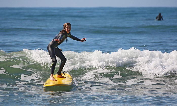 iSurf - Santa Barbara: One or Three Group Surf Lessons from iSurf (Up to 44% Off)