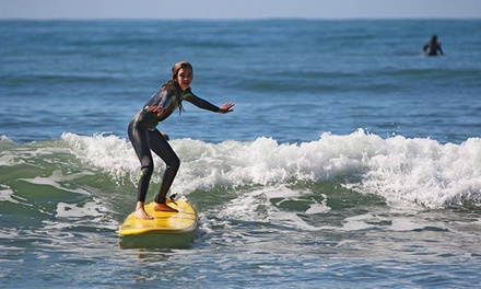 One or Three Women's Group Surf Lessons or Membership plus One Month of Lessons from iSurf (Up to 44% Off)