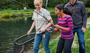 Fraser Valley Trout Hatchery: Fishing Lesson for Two or Four Children at Fraser Valley Trout Hatchery Visitors Centre (45% Off)