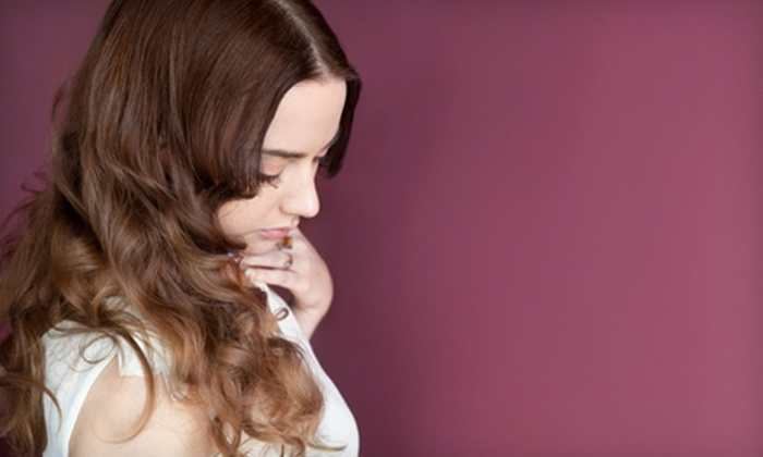 J. Denae Salon - Multiple Locations: $45 for Haircut, Style, and Choice of Partial Highlights or Single-Process Color at J. Denae Salon ($95 Value)