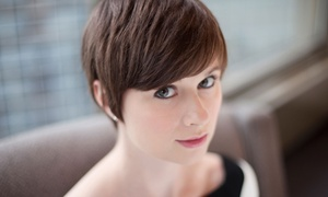 Stylmup Salon: Haircut and Style with Color or Partial Highlights from Stylmup Salon (Up to 66% Off)