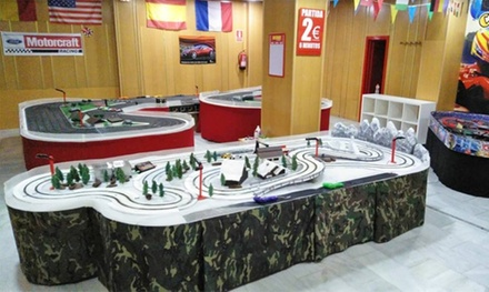 GP de Scalextric para hasta 8 personas en Slot Player (descuento del 50%)