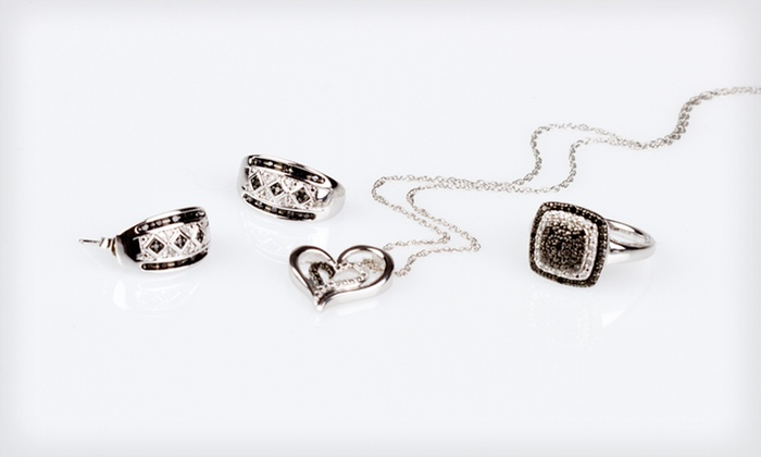 Black- and White-Diamond Jewelry: Black- and White-Diamond Jewelry (Up to 85% Off). Six Options Available. Free Shipping and Free Returns.