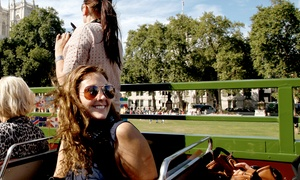 Premium Tours: Double Decker London Bus Tour and Thames Cruise: Child (£15), Adult (£20) or Family (£70) Tickets (Up to 50% Off)