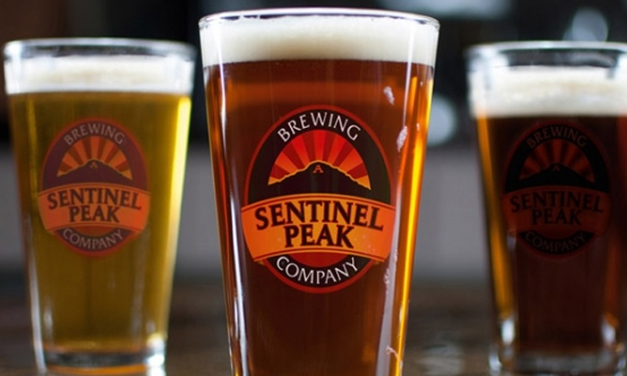 Sentinel Peaking Brewing Company - Ward 6: Beer and Appetizers for Two or Four at Sentinel Peak Brewing Company (Up to 46% Off)
