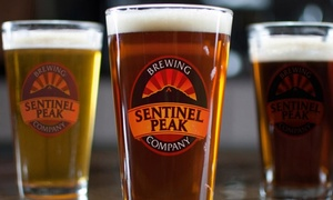 Sentinel Peaking Brewing Company: Beer and Appetizers for Two or Four at Sentinel Peak Brewing Company (Up to 46% Off)