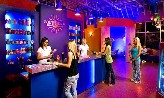 South Beach Tanning Company - Multiple Locations: One Month of UV Tanning or Three Spray Tans at South Beach Tanning Company (Up to 72% Off). Three Locations Available.
