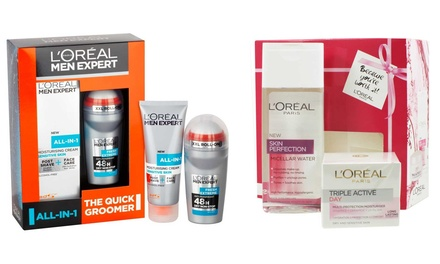 L'Oreal Paris Men Expert and Skin Perfect Beauty Gift Sets for Him and Her