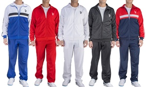 Men's Slim Fit Jogging Tracksuit (2-Piece). Extended Sizes Available.