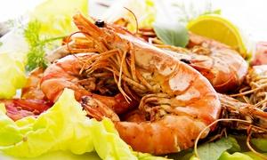 Ristorante San Michele: Menu di pesce con 4 portate e vino, con vista sulla Franciacorta (sconto fino a 68%)