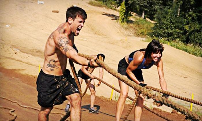 Podium 1 Adventure Night Run - Charlestown: $37 for Podium 1 5K Obstacle Adventure Mud Run in Charlestown on Saturday, August 11 ($75 Value)