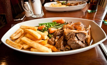 image for Two-Course Meal with Wine for Two or Four at The Augustus John (Up to 50% Off)