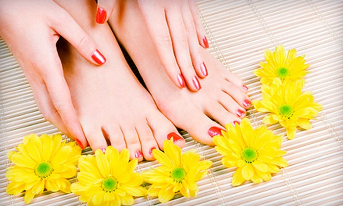 Preet Hair, Nail and Beauty Salon - Newton: One or Two Mani-Pedis at Preet Hair, Nail and Beauty Salon (Up to 51% Off)