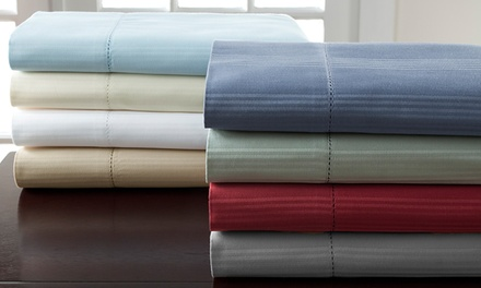 400-Thread-Count 100% Cotton Striped Sheet Set