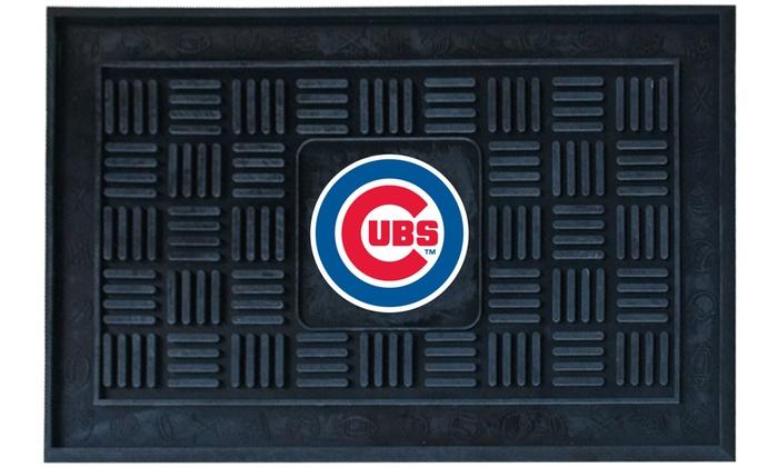Chicago Cubs Vinyl Door Mat: Chicago Cubs Vinyl Door Mat