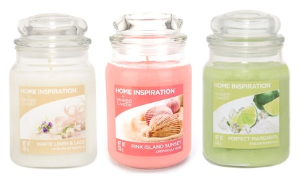 Selection of Yankee Candle Home Inspiration Large Jars