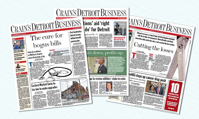 """Crain's Detroit Business"" - Lansing: One- or Two-Year Print Publication and Online Subscription to ""Crain's Detroit Business"" (Up to 75% Off)"