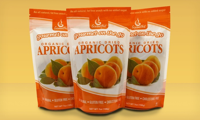 3-Pack of Gourmetnut Dried Fruit: 3-Pack of Gourmetnut Dried Fruit. Multiple Fruits Available.
