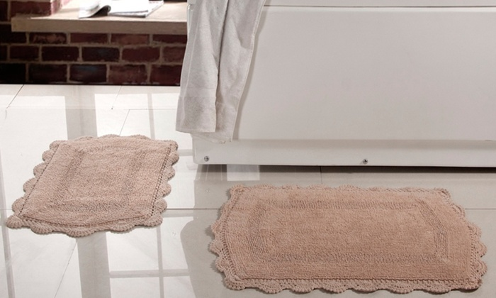 Crochet Lace Bath Rugs 2 Pack Groupon