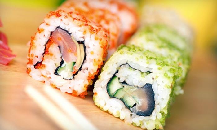 Kimono Japanese Restaurant & Sushi - Multiple Locations: Hibachi or Sushi at Kimono Japanese Restaurant & Sushi (Half Off). Two Options Available.