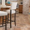 Set of 2 Mayfield Fabric or Bonded-Leather Barstools