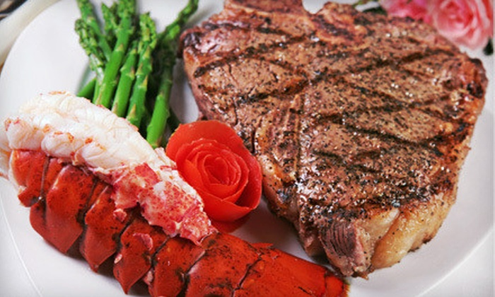 Portofino Restaurant - City Island: Surf 'n' Turf Dinner with Wine for Two or Four, or $20 for $40 Worth of Italian Cuisine at Portofino Restaurant