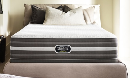 Hot Buy: Beautyrest Recharge Hybrid Shadowbrook Luxury Firm Mattress Set. Free Delivery. 10-Year Limited Warranty.