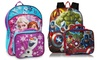 Avengers and Disney Frozen Backpack with Matching Lunch Kit: Avengers and Disney Frozen Backpack with Matching Lunch Kit
