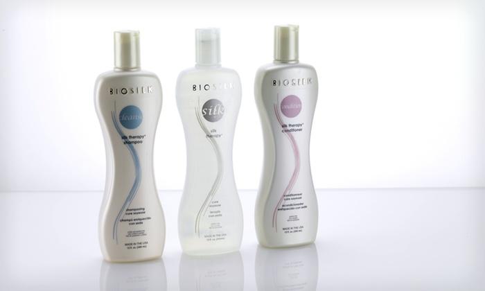BioSilk Shampoo, Conditioner, and Serum: $39 for BioSilk Hair Therapy Shampoo, Conditioner, and Silk Serum ($67.99 List Price). Free Shipping.