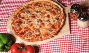 Sammy Perrella's Pizza & Restaurant : Pizza for Two or Four at Sammy Perrella's Pizza & Restaurant (47% Off). Two Locations Available.