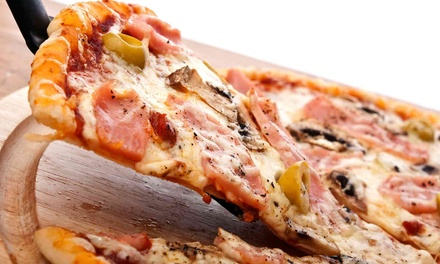 Pizza and Drinks at Papa John's Pizza - Modesto & Turlock (50% Off). Three Options Available.